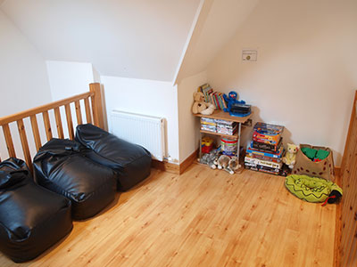 Mezzanine play area for children at 8 Gables Self Catering Accommodation, Sligo, Ireland
